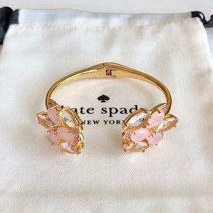 Kate Spade Pink Crystal Flower Cuff